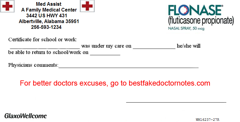 Doctors Excuse Form 1
