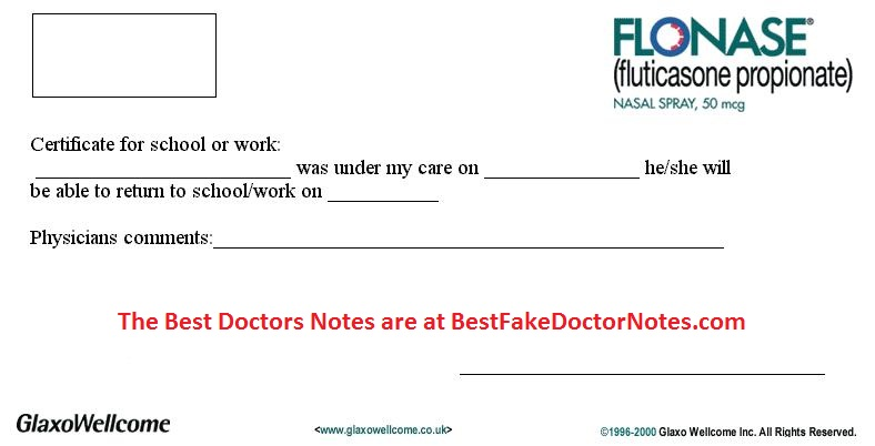 doctor excuse form 1
